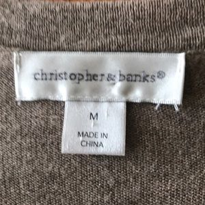 Christopher & Banks Sweaters - Christopher & Banks | Brown & Gold Sweater
